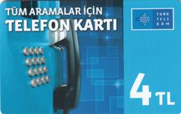 TURKEY - Tüm Aramalar İçin Arama Kartı , Temmuz 2016, Incard - IN4 , 4 ₤ - Turkish Lira ,11/14, Used - Turquie