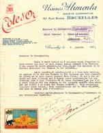 254/30 - Belgique EXPO 1935 BRUXELLES - Lettre à Entete Chocolat Cote D' Or - Pavillon Expo- Eléphant Sigle De La Marque - 1935 – Brüssel (Belgien)