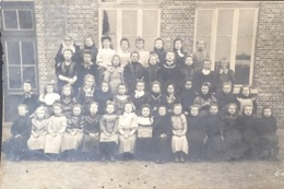 Carte Photo Scolaire à Identifier. École Des Soeures 1908. - Ecoles