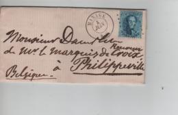 CBPN48/ TP 14 S/LAC Daté De Seneffe C.Manage 4/6/1864 LOS 234 > Philippeville C.d'arrivée 5/6/1864 - Postmarks - Points