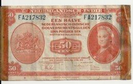 INDES NEERLANDAISES 5 GULDEN 1943 VG P 110 - Indie Olandesi