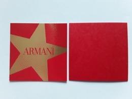 "ARMANI   "" Carte Parfumée   ""  Photo R/V  ! - Perfume Cards"