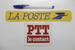 Autocollant Stickers - PTT Le Contact LA POSTE - Lot De 2 Autocollants - Stickers