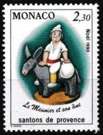 Timbre-poste Gommé Neuf** - Santons De Provence Le Meunier Et Son âne - N° 1743 (Yvert) - Principauté De Monaco 1990 - Monaco