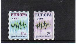 BELGIUM 1972 EUROPA MNH** 1623/24 - Europa-CEPT