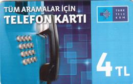 TURKEY - Tüm Aramalar İçin Arama Kartı , Aralık 2014, Gemplus - GEM5 (Red) , 4 ₤ - Turkish Lira ,07/12, Used - Turkije