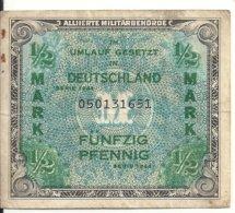 ALLEMAGNE 1/2 MARK 1944 VF - [ 9] Duitse Bezette Gebieden