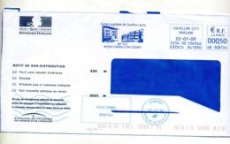 Lettre Flamme Ema Cavaillon Hopital + Flamme Fausse Direction - Marcophilie (Lettres)