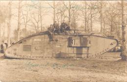 Cpa Photo Tank Anglais Postée 1919   -D- - Ausrüstung