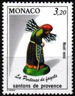 Timbre-poste Gommé Neuf** - Santons De Provence La Porteuse De Fagots - N° 1744 (Yvert) - Principauté De Monaco 1990 - Monaco