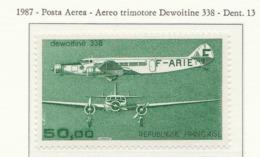 PIA - FRA - 1987 : Aereo Trimotore Dewoitine 338  - (Yv  P.A. 60) - Aerei