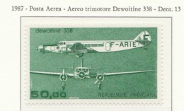 PIA - FRA - 1987 : Aereo Trimotore Dewoitine 338  - (Yv  P.A. 60) - 1960-.... Nuovi