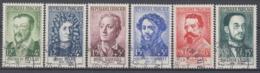 +B1667. France 1958. Célébrités. Yvert 1166-71. Oblitérés. Cancelled(o). - Oblitérés