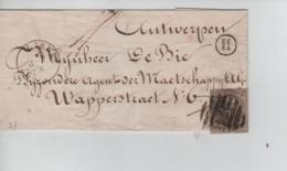 CBPN49/ TP 11 3 Marges S/LSC Obl.Barre (8) 74 C.Lierre 5/5/1863 Boîte H (Berlaer) > Anvers C.d'arrivée 5/5/63 6S - Postmark Collection