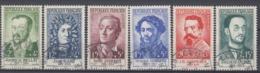 +B1668. France 1958. Célébrités. Yvert 1166-71. Oblitérés. Cancelled(o). - Oblitérés