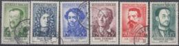 +B1670. France 1958. Célébrités. Yvert 1166-71. Oblitérés. Cancelled(o). - Oblitérés