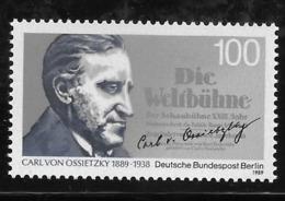 Germany Berlin 1989 Carl Von Ossietzky Awarded Nobel Peace Prize MNH - Nuevos
