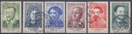 +B1671. France 1958. Célébrités. Yvert 1166-71. Oblitérés. Cancelled(o). - Oblitérés