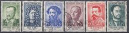 +B1672. France 1958. Célébrités. Yvert 1166-71. Oblitérés. Cancelled(o). - Oblitérés