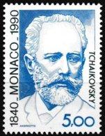 Timbre-poste Gommé Neuf**  150e Anniversaire De La Naissance De Piotr Ilitch Tchaïkovski - N° 1746 (Yvert) - Monaco 1990 - Monaco