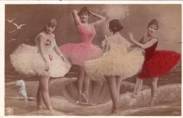 ORANOTYPIE STEGLITZ 1904  DANSEUSES EN TUTU EN BORD DE MER ET  COQUILLE SAINT-JACQUES - Mujeres