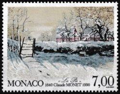 Timbre-poste Gommé Neuf** - 150e Anniversaire De La Naissance Du Peintre Claude Monnet - N° 1747 (Yvert) - Monaco 1990 - Monaco