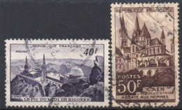 FRANCE N° 916 à 917 O Y&T 1951 Monuments Et Sites - Oblitérés