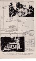 ILES MARQUISES PLAN DE L'ARCHIPEL  (2J) - Frans-Polynesië
