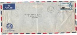 Gibraltar 1959 - Lettre Letter Brief - Gibilterra
