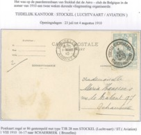 86 Op De Postkaart Van Stockel(Luchtvaart) / Stockel(Aviation) T3R Coba 100 € - 1910-1911 Caritas