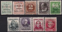 Patrioticos Burgos  1/9 ** Viva España. 1936 - Emisiones Nacionalistas