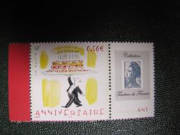 TIMBRE PERSONNALISE 3688A ANNIVERSAIREI  LOGO GANDON - France