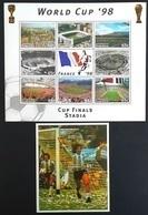 Dominica 1997** Mi.2384-91 + Bl.341. World Cup '98, MNH [13;137] - 1998 – Frankrijk
