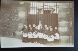 St Jean De Doigt Finistère Congrégation Filles Du St Esprit Enfants De Chœur Belle Carte Photo ! - Plougasnou