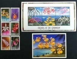 Dominica 1997** Mi.2316-21 + Klb.2322-27 + Bl.331. Flowers, MNH [13;145] - Ohne Zuordnung