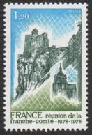 France Neuf Sans Charnière  1978  Rattachement De La Franche-Comté  Territoire  Histoire  YT 2015 - Francia