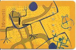 CARTE*-PUCE-POLYNESIE-30U-PF61-GEMA-ART MAOHI 97-97/06-UTILISE-TBE- - Französisch-Polynesien