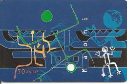 CARTE*-PUCE-POLYNESIE-30U-PF63-GEMA-ART MAOHI 97-BLEU-97/06-UTILISE-TBE- - Französisch-Polynesien