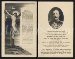 Doodsprentje / Bidprentje / Avis De Décès / Baron De Moor / Général Major / Mechelen / Bruxelles / 1923 / 2 Scans - Religion & Esotérisme