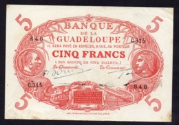 Guadeloupe - 5 Francs Cabesson - 1945 - Boudin / Gascon - Andere
