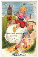 Saint-Malo (35) - Carte à Système Scooter Avec Dépliant. Bon état. - Saint Malo