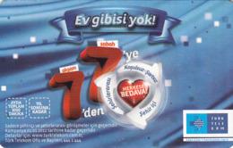 TURKEY - Ev Gibisi Yok , Aralik 2013, Gemplus - GEM5 (Red) , 4₤ - Turkish Lira ,07/11, Used - Turquie