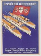 Seedienst Ostpreussen - Zoppot (Danzig) - Pillau (Königsberg) - Signiert           (A-196-191108) - Advertising