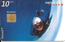 CARTE-PUCE-SUISSE-10CHF-Gem2-Se42-09/98-LUGE-TBE - Suisse