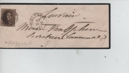 CBPN50/ TP 10 S/LSC De Deuil 3 Marges Obl.B.118 C.Tirlemont 16/10/1861 Dassis Notaire > Louvain C.d'arrivée 16/10/1861 - Postmark Collection