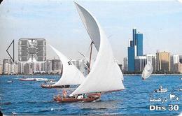 2-CARTE-PUCES-EMIRATS-SC7-30Dhs-1998-JET D EAU-TBE-RARE - Emirati Arabi Uniti