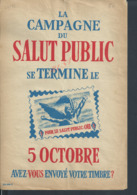 MILITARIA AFFICHE 24X16 CAMPAGNE SALUT PUBLIC ILLUSTRÉE CROIX DE LORRAINE : - Posters