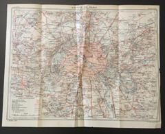 CARTE PLAN 1928 - 25,5 X 32,5 Cm - CARTE SORTIE De PARIS - ROUTE NATIONALE CHEMINS De FER CHEMINS - Mapas Topográficas