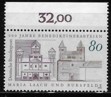 Germany 1993 Benedictine Abbeys Of Maria Laach And Burstelde MNH - [7] República Federal