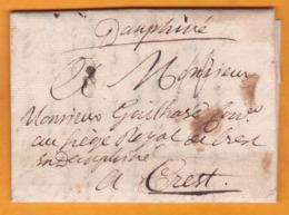 1769 - Lettre Avec Correspondance De 3 Pages De PARIS Vers Crest, Drôme, Dauphiné - Louis XV - Marcophilie (Lettres)
